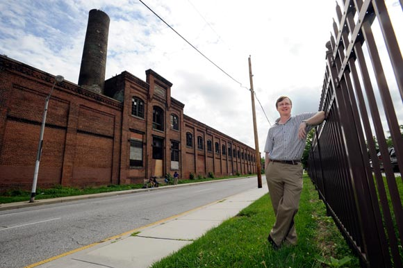 Johns Hopkins, executive director of Baltimore Heritage, at the former American Ice Company plant