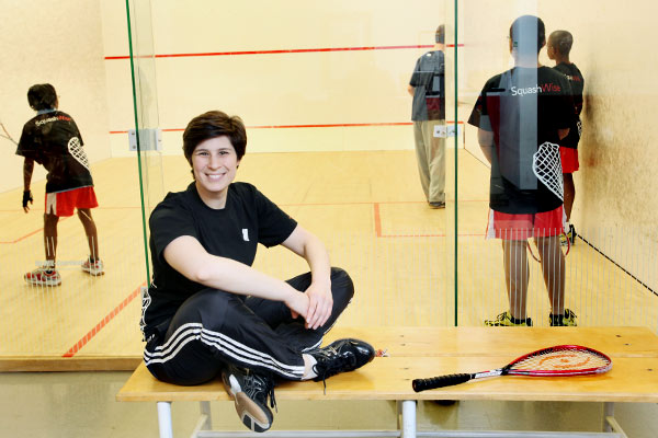 Abby Markoe, Executive Director of Baltimore Squash Wise. Photo by Arianne Teeple