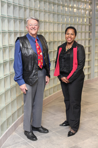 Dick Cook, Director and Ali-Sha Alleman, Assistant Director with the Social Work Community Outreach